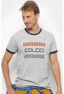 Camiseta Colcci Logo Masculina - Masculino-Mescla