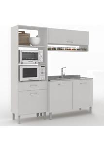 Cozinha Compacta Uccelli 4 Portas 1 Gaveta 600070 Gris - Vedere