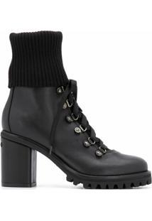 Le Silla Ankle Boot Com Salto Bloco - Preto