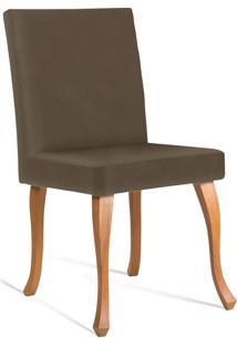 Cadeira Juliete Dourado Daf Marrom