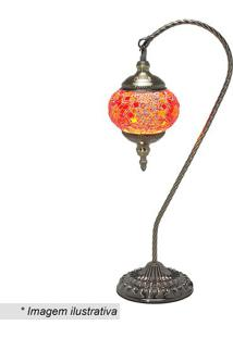 Abajur- Ouro Velho & Laranja- 53,3X15X23Cm- Bivomabruk