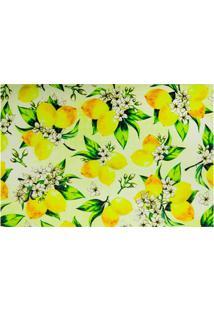 Jogo Americano Textilene 45X30Cm Arte Limão Amarelo