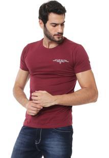 Camiseta Iódice Estampada Vinho