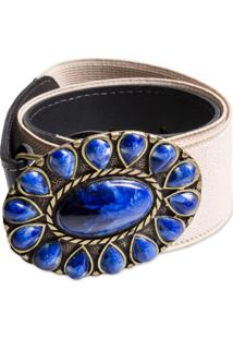 Cinto Artlux De Pedraria Azul
