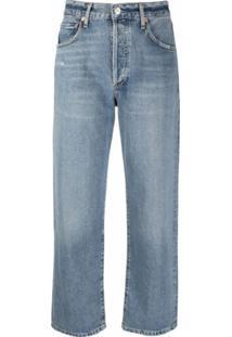 Citizens Of Humanity Calça Jeans Cropped Cintura Média - Azul