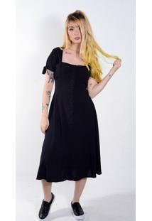Vestido Boneca Midi Preto (, M+)