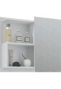 Espelheira Para Banheiro Com 1 Porta 60Cm Lis-Mgm - Branco