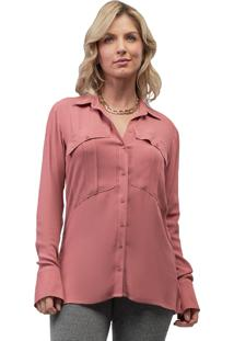 Camisa Mx Fashion Viscose Mike Goiaba Rosa