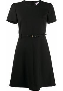 Redvalentino Vestido Com Cinto - Preto