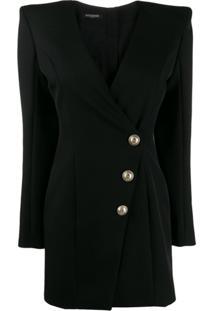 Balmain Vestido Blazer Em Alfaiataria - Preto