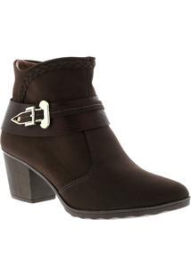 Ankle Boot Mississipi Café 37 - Feminino
