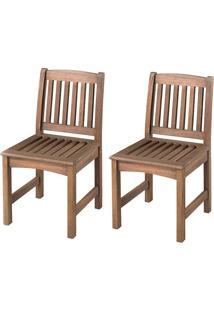 Cadeira Recanto (Kit Com 2) - Nogueira
