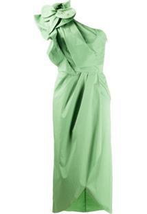 Johanna Ortiz Persian Opulence One-Shoulder Dress - Verde