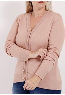 Cardigan Plus Size Feminino Rose