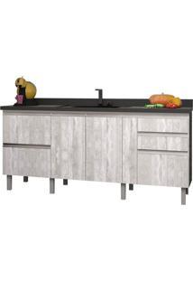 Gabinete Para Cozinha 200Cm Mdf Tupã Calcare 194X88X52Cm - Cozimax - Cozimax