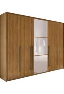 Guarda-Roupa Casal Com Espelho Reali New 6 Pt 6 Gv Rovere