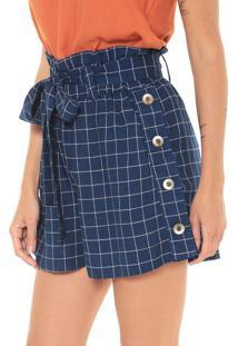Short Dress To Geométrico Azul-Marinho