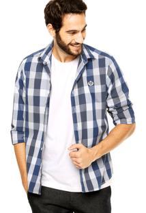 Camisa Forum Contraste Azul
