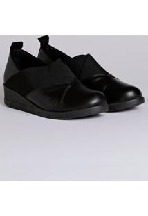 Sapato Anabela Feminino Usaflex Preto