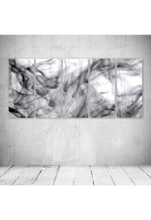 Quadro Decorativo - Abtract Art Smoke (2) - Composto De 5 Quadros - Multicolorido - Dafiti