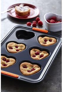 Forma Para 6 Muffins Formato Coração Aço Carbono Le Creuset