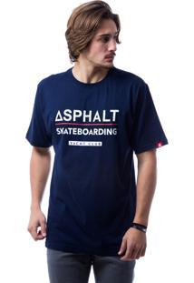 Camiseta Asphalt Ayc Skateboarding Azul Marinho