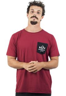 Camiseta Alfa Pocket Bordo