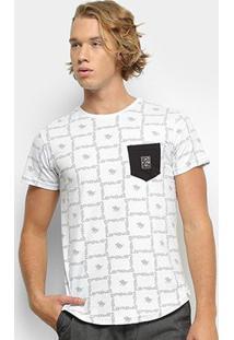 Camiseta Polo Rg 518 Swag Bolso Masculina - Masculino-Branco