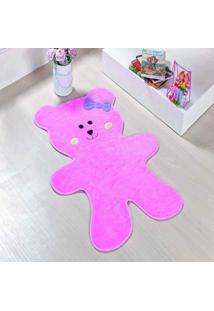 Tapete Dourados Enxovais Formato Urso Biscoito Rosa