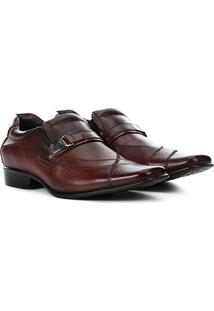 Sapato Social Couro Rafarillo Office - Masculino-Marrom Escuro
