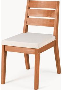 Cadeira Assento Estofado Fortaleza Stain Jatoba - 35426