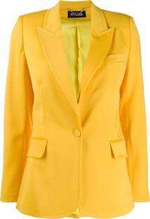 Styland Blazer Slim Com Lapelas - Amarelo