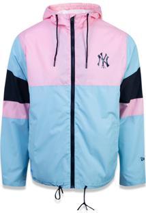 Jaqueta New Era Windbreak New York Yankees Azul/Rosa