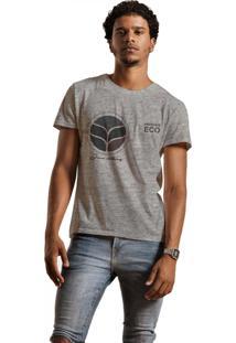 Camiseta Masculina Joss Mescla Premium Eco Cinza