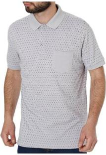 Camisa Polo Manga Curta Masculina Vels - Masculino-Cinza