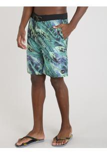 Bermuda Surf Masculina Blueman Estampada Florestal Verde
