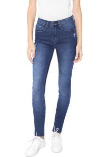 Calça Jeans Calvin Klein Jeans Skinny Pockets Azul