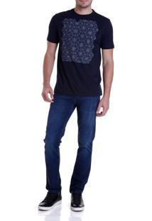 Calca Dudalina Denim Malha Washed Blue Masculina (Jeans Medio, 46)