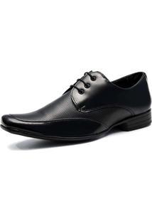 Sapato Social Salazari Com Cadarço Verniz Preto
