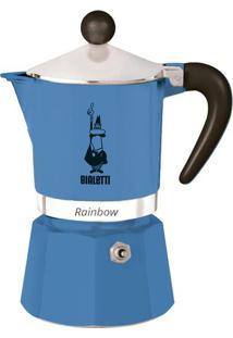 Cafeteira Rainbow 3 Xícaras Azul Bialetti