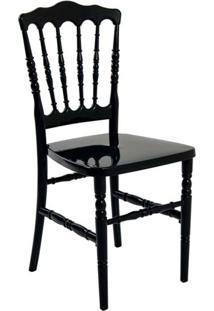 Cadeira De Jantar Dior Resina Preta