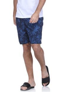 Short Praia King&Joe Estampado Azul