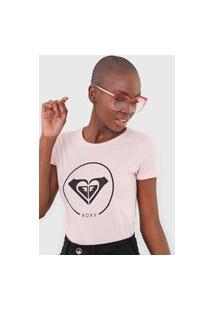 Camiseta Roxy Beach Classics Rosa