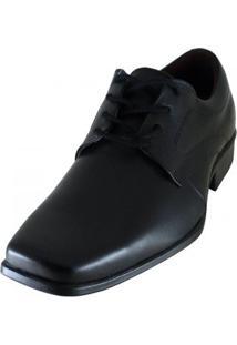 Sapato Social Couro Stefanello Masculino - Masculino-Preto