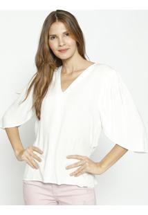 Blusa Lisa Com Pregas - Off White - Colccicolcci