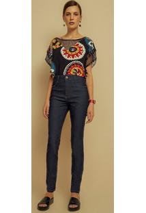 Calca Jeans High Waist Amaciada