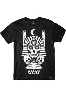 Camiseta Refuse Egyptian King - Preta