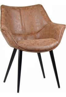 Cadeira Cecilia Marrom Vintage Rivatti Móveis
