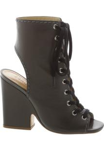 Bota Open Back Lace Up Leaf | Schutz