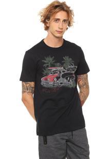 Camiseta Hering Estampada Preta
